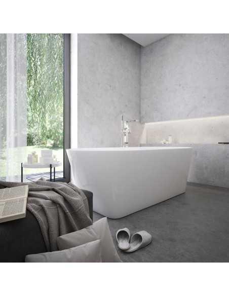 Vonia SOLO akrilinė + grindinis vonios maišytuvas CR 080.00, RAVAK