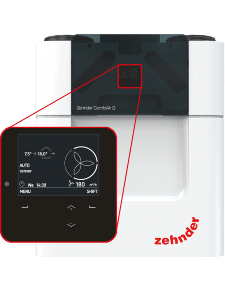 Rekuperatorius entalpinis ComfoAir Q600 ST, Zehnder
