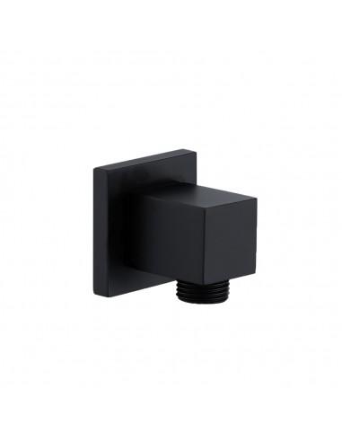Sieninis dušo išvadas SQ 12214B, Herz, matinės juodos spalvos, Austrija