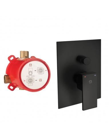 Maišytuvas dušui/voniai, 2 funkcijos, su potinkine dalimi SQ 00362B, Herz, matinės juodos spalvos, Austrija