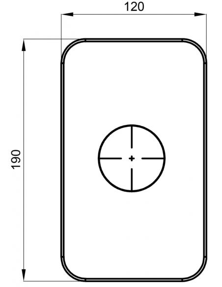 Potinkinio dušo apdaila su rankena Herz potinkiniam maišytuvui Elite 12246B, 1 funkcijos, matinės juodos spalvos, Austrija