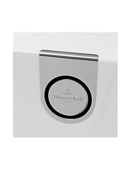Vonia glaudžiama prie sienos Oberon 2.0 Duo Quaryl 180 cm, su sifonu ir apdaila, Villeroy&Boch