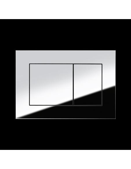 Pakabinamo unitazo Laufen Pro Rimles komplektas su potinkiniu moduliu TECE ir chromuota nuleidimo plokštele