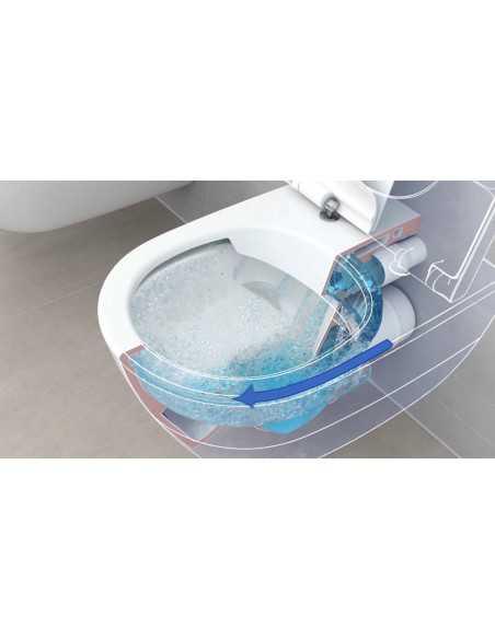 Pakabinamo unitazo Gustavsberg Hygienic Flush komplektas su potinkinui moduliu TECE ir nuleidimo plokštele Now chromo spalvos