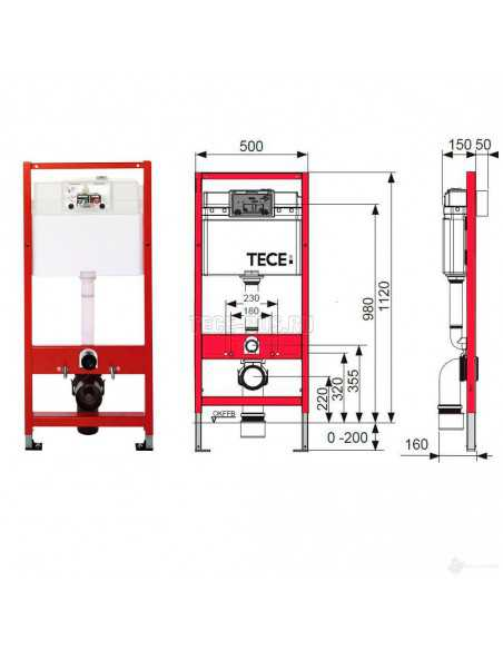 Pakabinamo unitazo Laufen Pro New komplektas su potinkiniu moduliu TECE ir nuleidimo plokštele Base