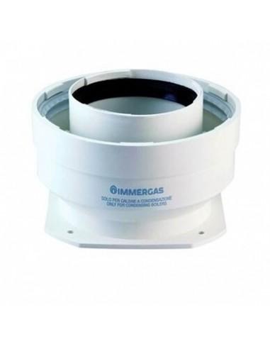 Kamino perėjimas flanšinis d60/100 pereinantis į d80/125 kondensaciniam katilui, Immergas